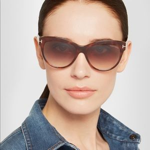 c160e46375aaf Tom Ford Accessories - Tom Ford Tortoise Lily Cat Eye Sunglasses